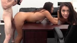 Seks na kastungu z fajną brunetką