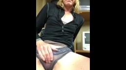 Wypieściła swą scipkę w pracy