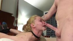 Długi penis w ustach gorącej blondynki