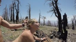 Seks z cycatą niunią w górach