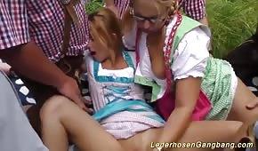 Orgia z napalonymi Niemkami