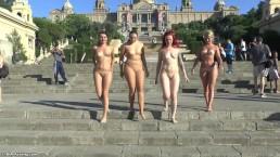 Cztery i nagie panie w Barcelonie
