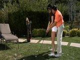 Alektra blue takes golfing lessons